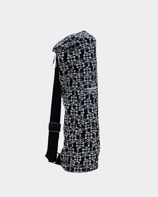 Yogaväska Ann Ringstrand for Yogiraj Yoga Mat Bag, black pattern